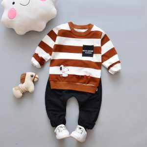 Striped Brown Kids T-shirt