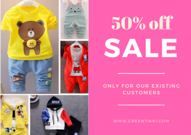 Special 50% off only to our existing customers