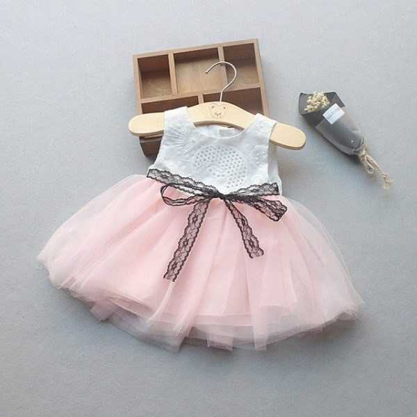 Newborn Baby Girl And Toddler Lace Dress