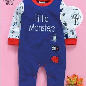 little monster - baby romper for boy