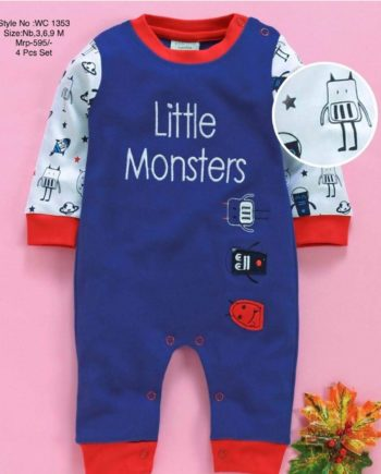 little monster - baby romper for boy