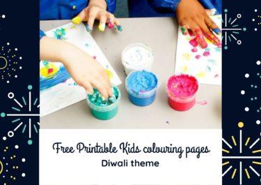 Free Printable Kids colouring pages – Diwali theme!