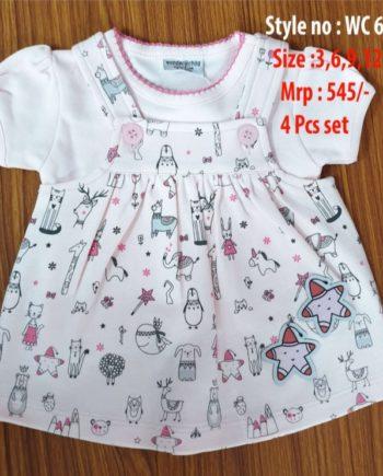 Pinky Newborn baby girl dress