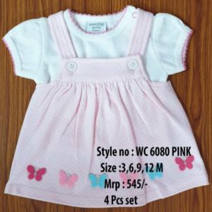 Butterfly Newborn Baby Girl dress - Pink