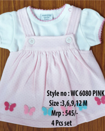 Butterfly Newborn Baby Girl dress - Pink