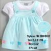 Butterfly Newborn Baby Girl dress - Blue