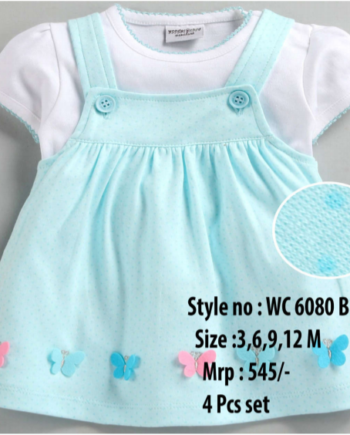 Butterfly Newborn Baby Girl dress - Blue