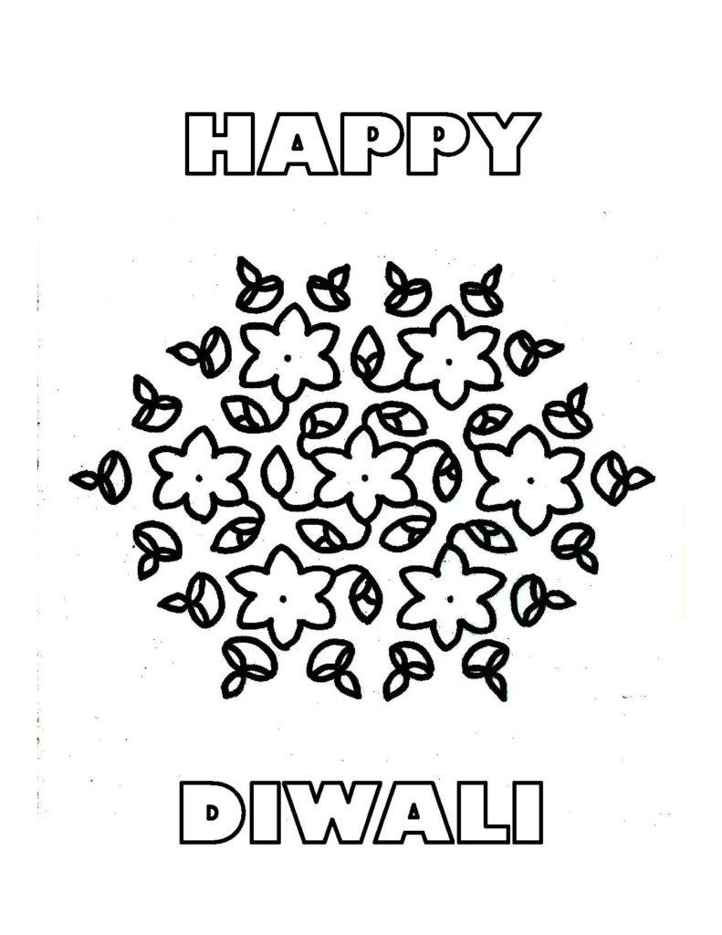 Free diwali kids coloring pages