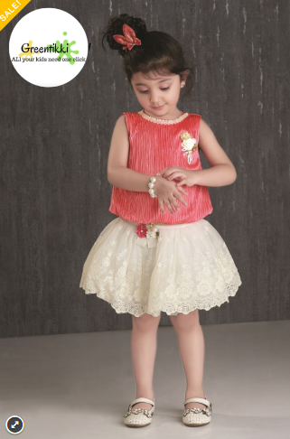 Baby Girl Party Wear – Top And Skirt Set